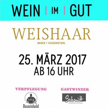Wein Im Gut 2017 am 25.03.2017 ab 16 Uhr im Weingutskeller