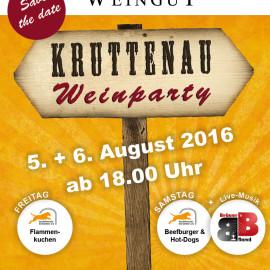 Kruttenau Weinparty 05. & 06.08.2016 jeweils ab 18.00 Uhr