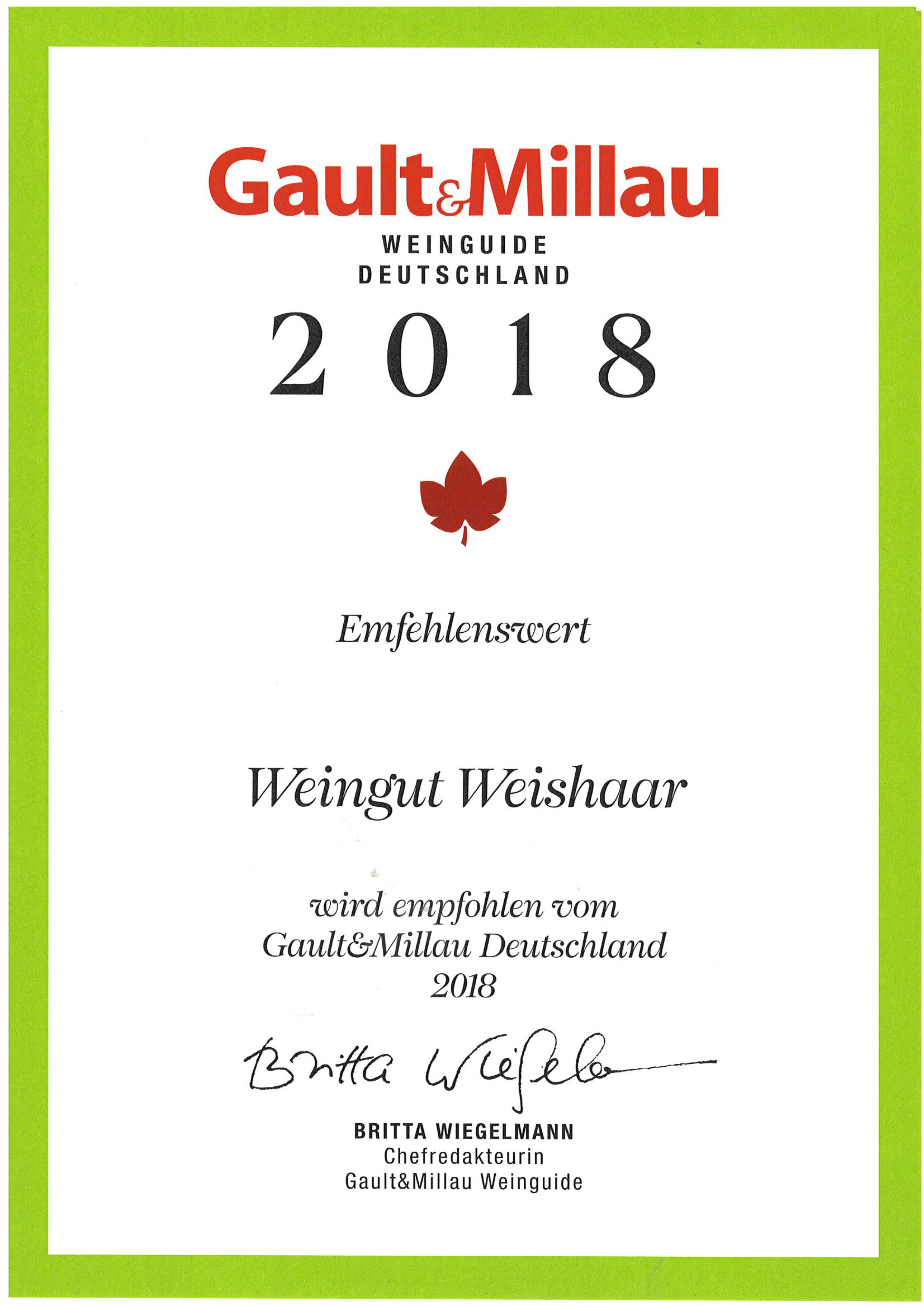 Gault Millau 2018