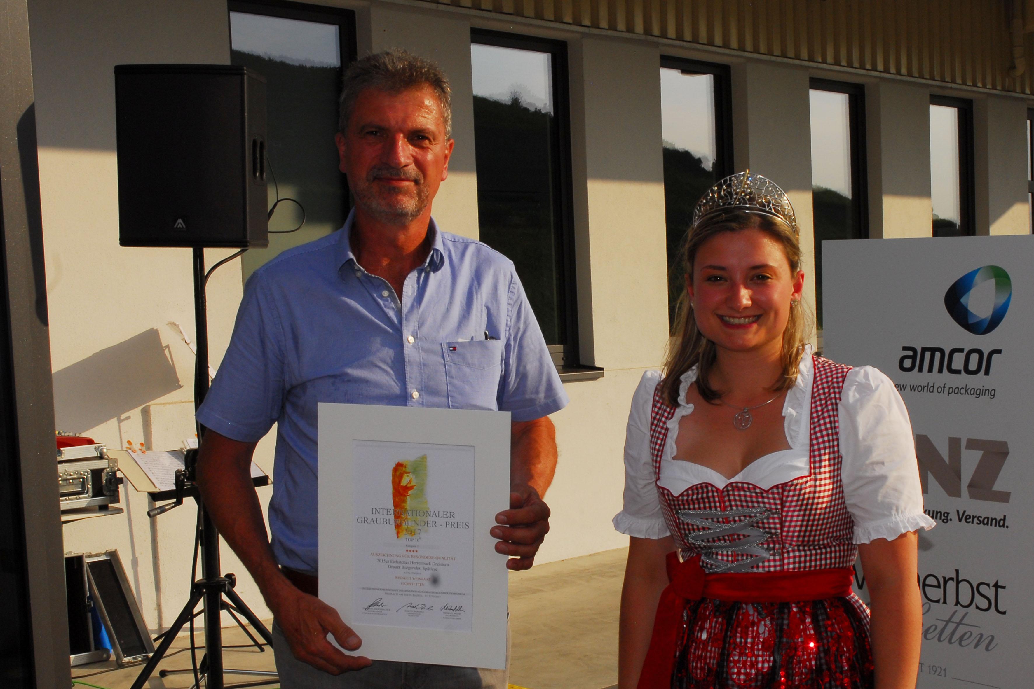 TOP 10 beim Internationalen Grauburgunder-Preis 2017