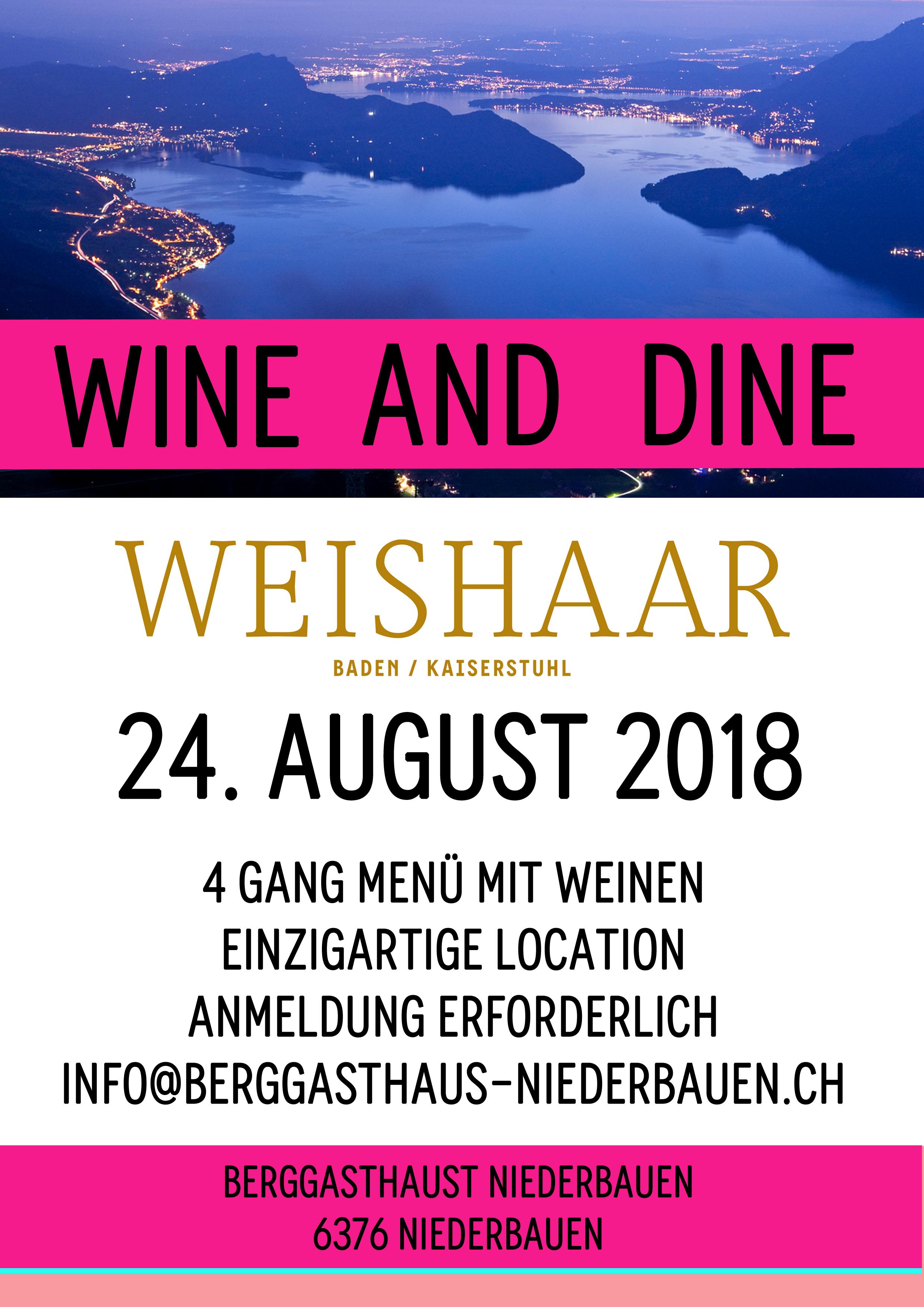 Wine and Dine am 24. August 2018 in Emmetten, Schweiz